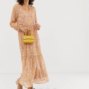 ASOS Vero Moda floral print tiered maxi dress